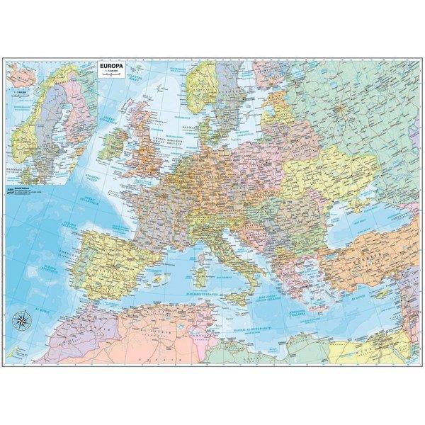 Cartina Autostrade Europa.Cartina Murale Europa 91x70cm